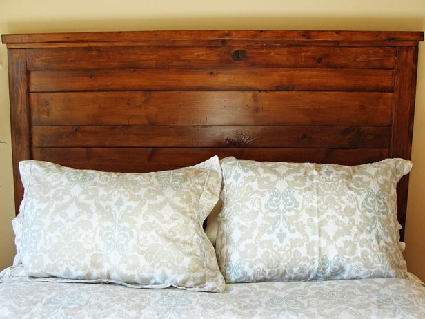 I like the stain and design of this headboard, something simple I could build with instructions included.