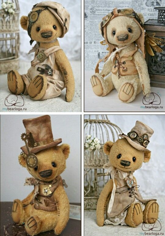 #steampunk collectable bears #want & #love