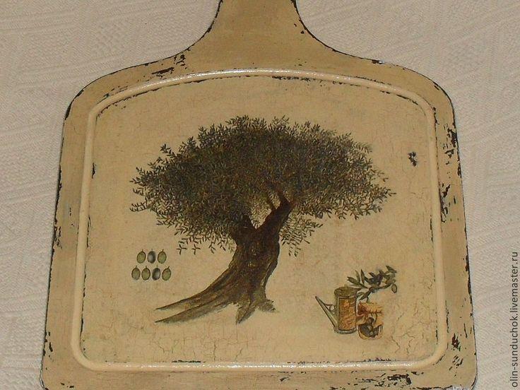 Доска Олива. - бежевый,кантри,прованс,олива,доска для кухни,доска декоративная
