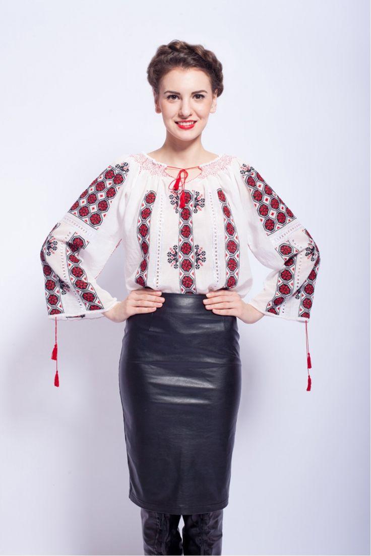 Ie traditionala romaneasca cu maneca lunga RL0214 - 519
