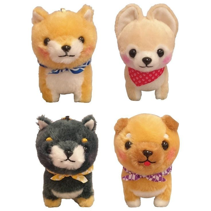 Mame Shiba Dog Brothers Mascot 9cm Plush Stuffed Doll Amuse From Japan Free Ship