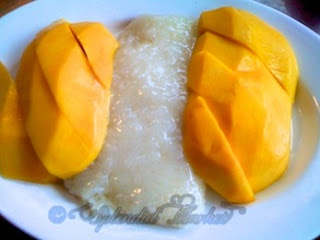 Champagne mangos and sticky rice, Thai Ginger