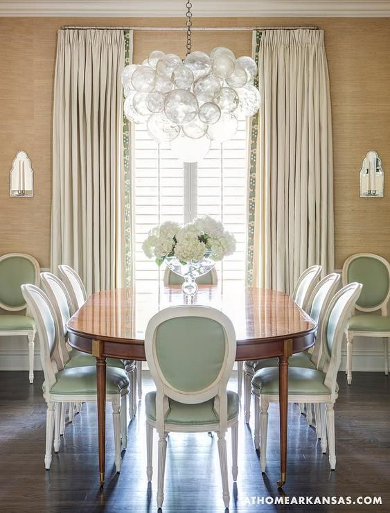 Oly Studio Bubble Chandelier At Home In Arkansas   Dining Rooms   , Phillip  Jefferies Grass Part 66