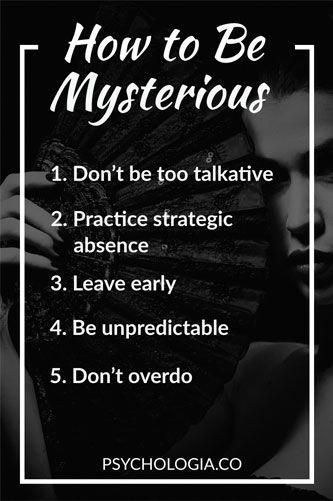 How to Be Mysterious (5 Steps) #relationships #psy…