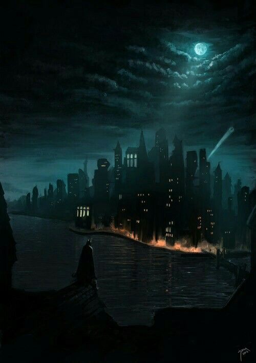 Batman Looking Over Gotham City                                                                                                                                                                                 More