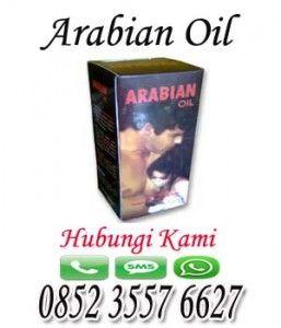 Arabian Oil diformulasikan untuk meningkatkan ukuran penis dan meningkatkan ereksi melalui aplikasi topikal seperti ukuran penis orang ARAB.  Tag: minyak pembesar penis,arabian oil,minyak pembesar alat vital,pengeras ereksi,penambah stamina,pencegah ejakulasi dini,pill ajaib,cara penis besar,terapi penis  SPESIFIKASI :  Negara asal : United Arab  Kemasan Isi : Botol, Isi 60 Ml  HARGA PROMOSI: Rp. 180.000; (BELI 2 GRATIS 1)