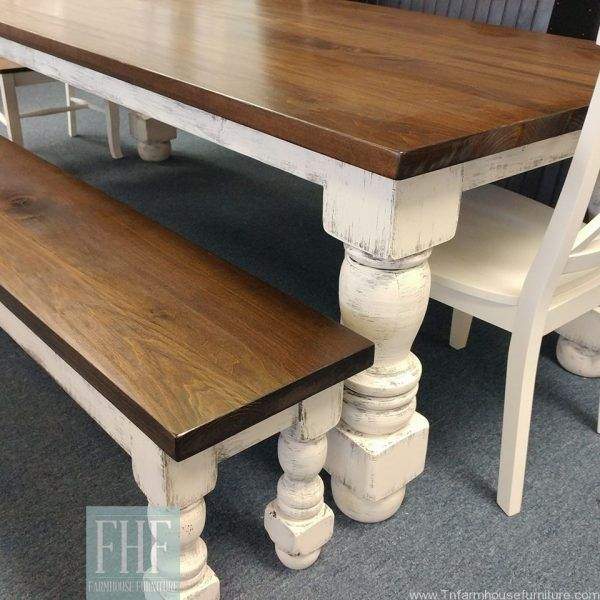 French Country Turned Leg Farm Table In 2020 Country Dining