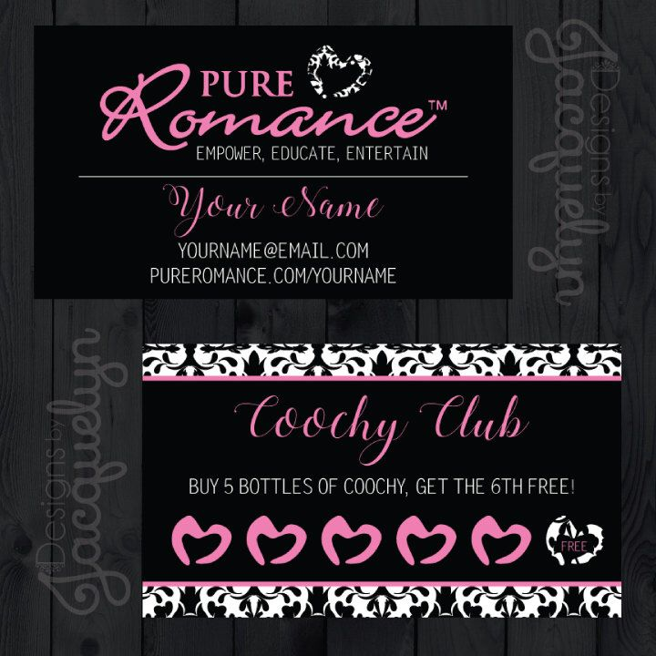 Pure Romance Consultant Coochy Club Cards - Choose A Pattern - PRINTED by MyCrazyDesigns on Etsy https://www.etsy.com/listing/496568263/pure-romance-consultant-coochy-club