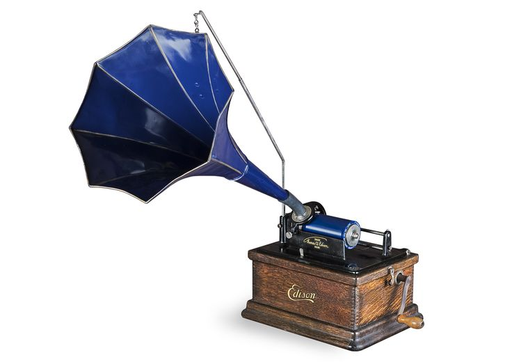 Edison Fireside Phonograph (c1912). Back in the days when records were wax cylinders.