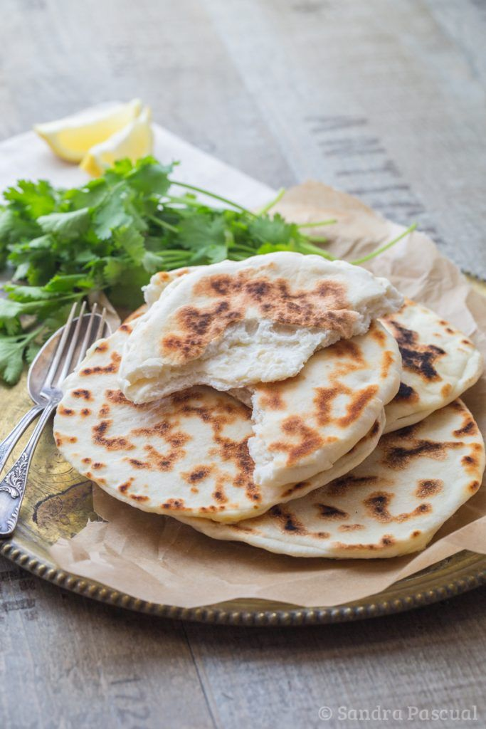 Naan indien au fromage