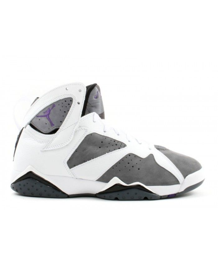 online store e4293 a643c Air Jordan 7 Retro White Varsity Purple Flint Grey 304775 151
