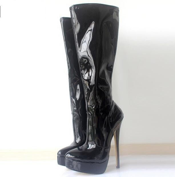 Womens 18Cm High Heel Stilettos Stretch Knee High Boots Shoes Sexy Nightclubs