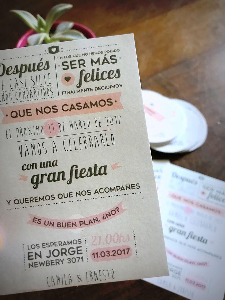 Invitación Sticker  #casamiento #fotos #tarjeta #invitacion #weddinginvitation #wedding #papeleria #diseñografico #diseñodebodas #graphicdesign #graficaparaeventos #tubodeensayo