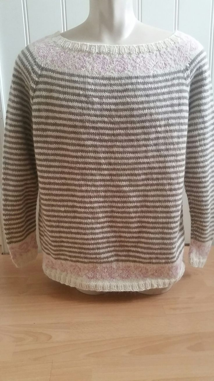 Love this sweater knitted in Alpaca Machu from Hjertegarn