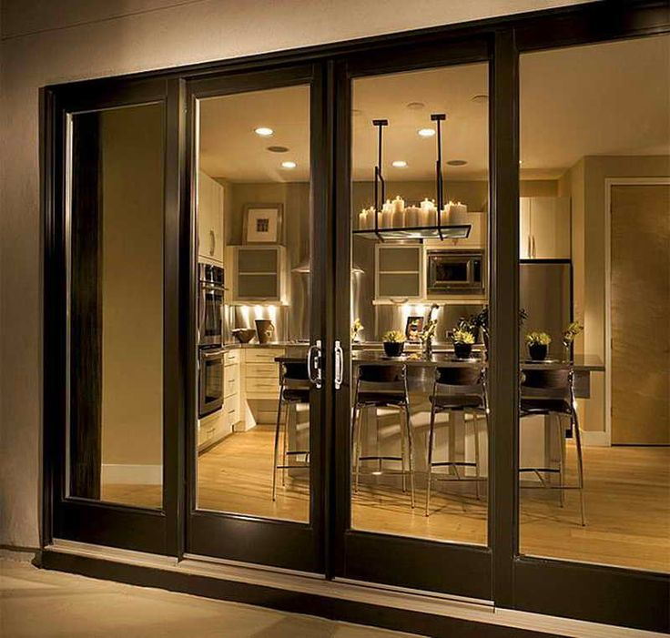 Best 25 sliding glass doors ideas on pinterest for Double sliding doors exterior