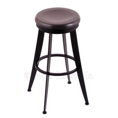 holland bar stool laser 25 in swivel counter stool with wood seat black wrinkle