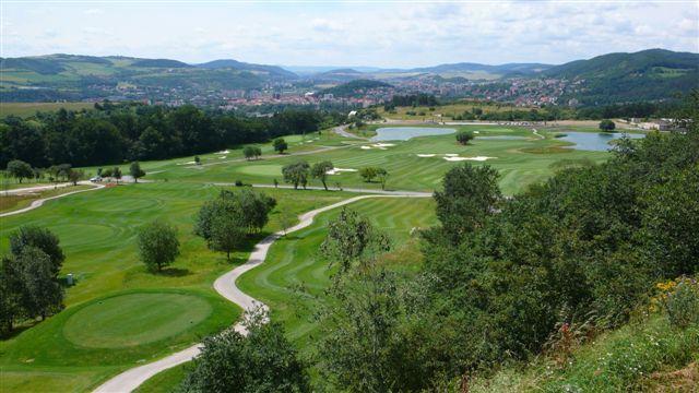 Golf course in the Czech Republic, golfbaan in Tsjechië.
