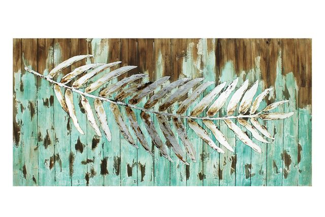 Feather Wood and Metal Wall Art $339.95