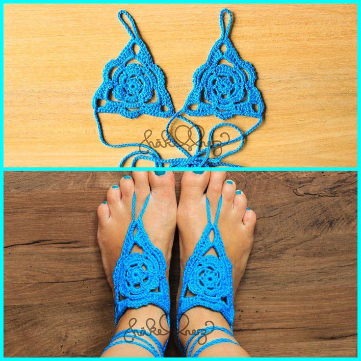 my new crochet barefoot sandals, free pattern www.haekelherz.de