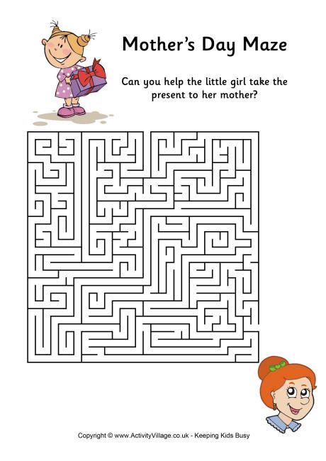 Mother's Day maze difficult