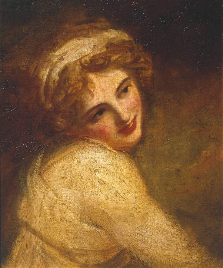 Inspiration for Demelza --- Lady Hamilton (as a Figure in 'Fortune Telling') by George Romney, c.1782–4. | Poldark, as seen on Masterpiece PBS