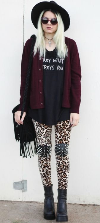 Soft grunge outfit style: SPIKES by Mickylene D. (lookbook)  http://LuckyMelli.com