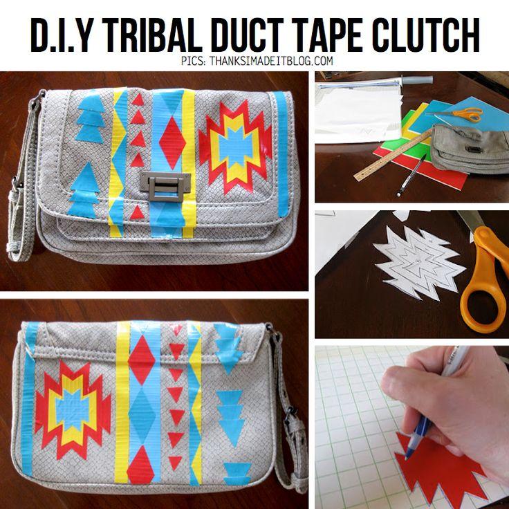 Tasjes, kleding, sieraden, stoelen, kastjes... Je kunt van alles opleuken met gekleurd (duct)tape!