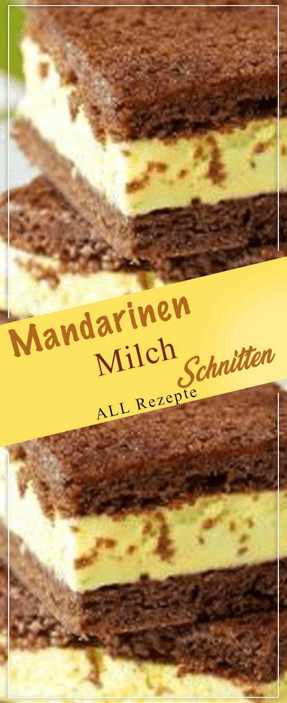 Mandarinen-Milch-Schnitten. # Kochen #Rezepte #einfach # köstlich