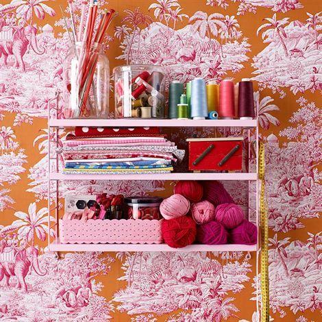 String shelf Pocket pink