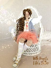 *♥* Peach Princess- Curly Hair *♥* Duza w trampkach 55cm, 200zl + 35zl koszt wysylki do PL £40 + £5 P&P -----------------...