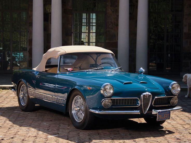 1962 ALFA ROMEO 2000 SPIDER - coachwork by Carrozzeria Touring Superleggera of Milan. #alfaromeospider