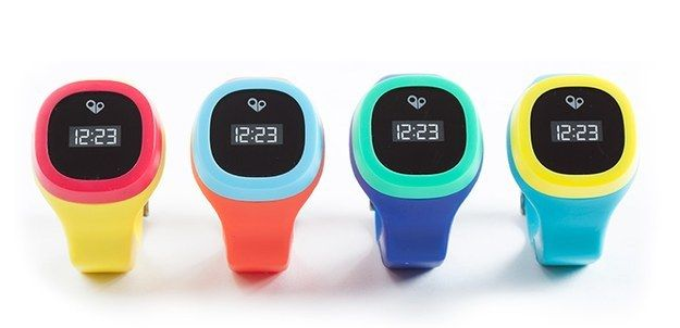 A children's watch that is equipped with GPS so parents can keep track of their kid's whereabouts on their smartphone.