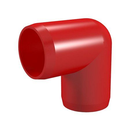 PVC Pipeworks 3/4 inch Ell PVC Furniture Grade Fitting in Red - 90 Degree (4-Pack)