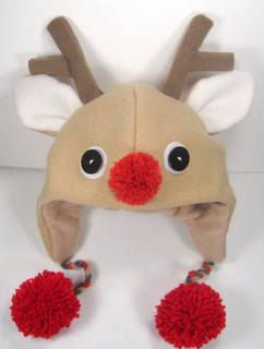 SALE-PDF ePattern-Reindeer Fleece Aviator Hat Tutorial, Children hat, Christmas Hat pattern, Baby hat, Easy Fleece Hat