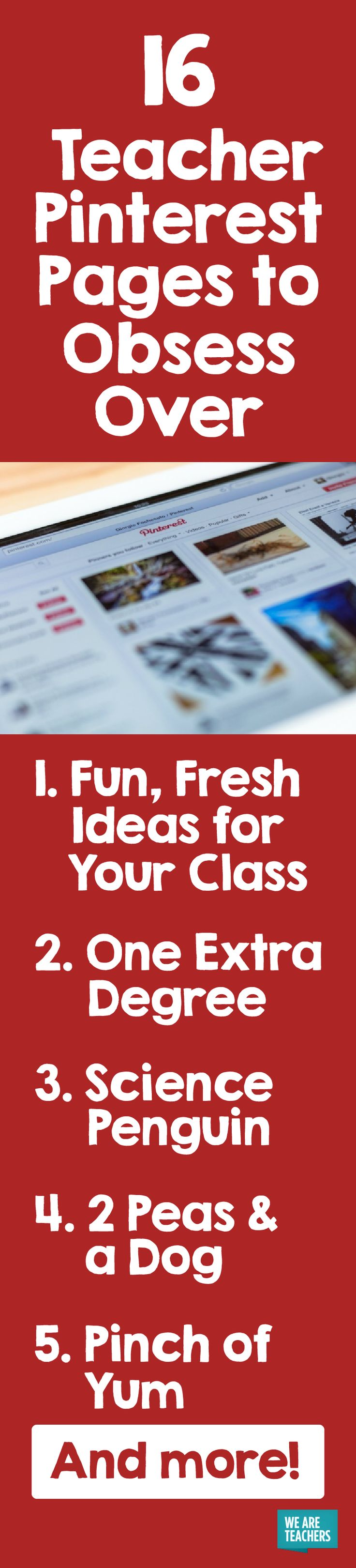 There is so much teacher content on Pinterest it's hard to know where to start! We've gathered the best teacher Pinterest pages to inspire you.