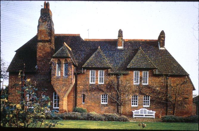 """william morris """" red house"""" he designed and built it and lived in it"""
