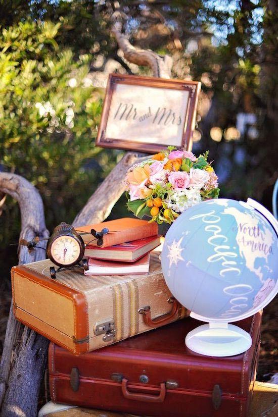 Todo listo para recorrer el mundo. Desde la recepción al viaje de luna de miel desde la recepción de la boda. Fotografia: Arina B Photography