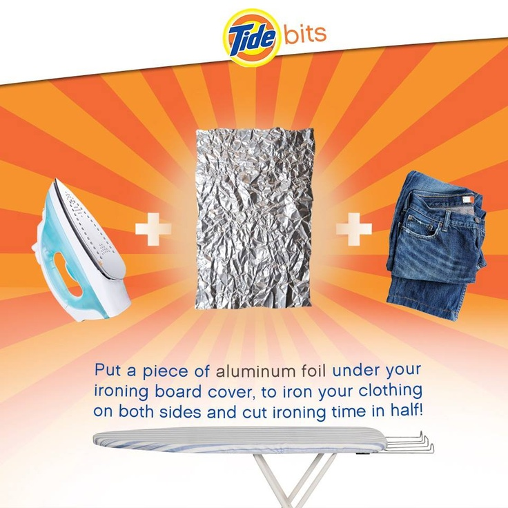Did You Know Aluminum Foil Is An Ironing Board 39 S Secret Weapon It Pays To Know Pinterest