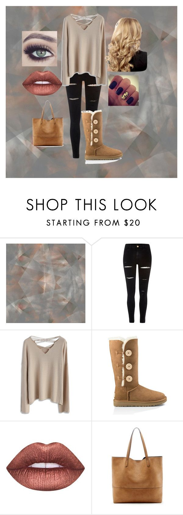 """Day at the mall"" by pentatonixfan24 ❤ liked on Polyvore featuring River Island, Chicwish, UGG Australia, Lime Crime and Sole Society"