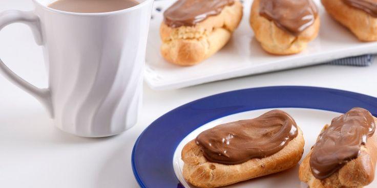 Chocolate Eclairs Recipe - Queen Fine Foods   www.queen.com.au/kitchen/chocolate-eclairs/