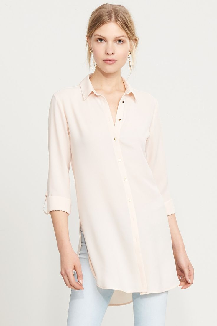 Kick some buttons. Button-Up Tunic Blouse