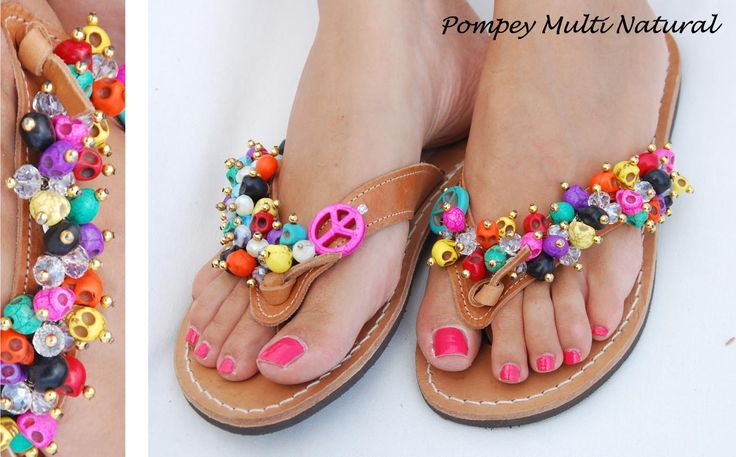 Pompey Multi Natural Flip-flop! Bonbon Sandals