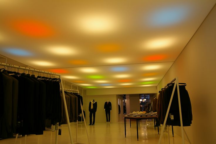 Clothing store ceiling made from Vecta Design stretch ceilings