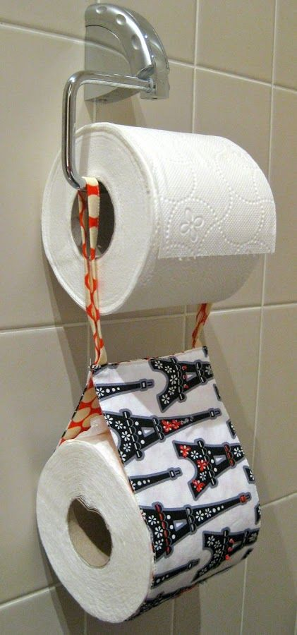 Embroidered spare toilet roll holder tutorial | Sewn Up by TeresaDownUnder