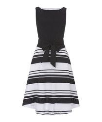 Julia black amp white striped midi dress The best black and white dresses for any occasion