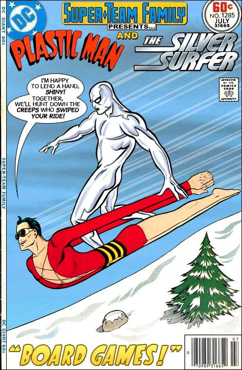 Super-Team Family: The Lost Issues!: Plastic Man and The Silver Surfer