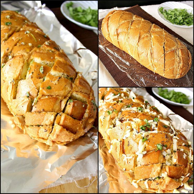 STUFFED ITALIAN BREAD  recipe adapted from Monster Mama    1 Italian loaf, about 12 inches long   1 stick butter, melted  1/8 cup olive oil  3 tsp minced onion  2-3 cloves garlic, grated  1 tbsp dijon mustard  1 tbsp poppy seeds  3 tsp chopped parsley (add more if you wish)  12 oz grated cheese (I used a mix of white cheddar and monterey jack.)