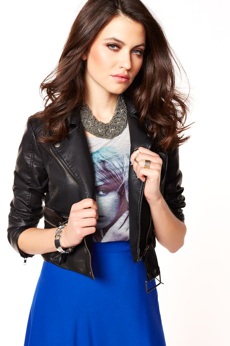The perfect faux leather jacket to top off all your spring looks!