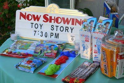 Backyard movie screen party