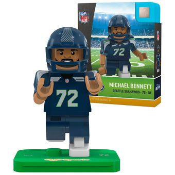 Seattle Seahawks Michael Bennett OYO Sports Generation 5 Player Minifigure